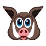 Avatar de um porco selvagem ilustração royalty free