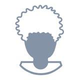 Avatar de una cabeza del hombre Imagenes de archivo
