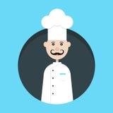 Avatar del cocinero en círculo oscuro Fotografía de archivo libre de regalías