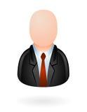 Avatar del hombre de negocios brillante Foto de archivo libre de regalías