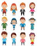 Avatar del muchacho y de la muchacha stock de ilustración