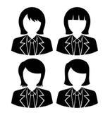 Avatar della donna di affari, progettazione di vettore di arte Fotografie Stock Libere da Diritti
