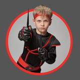 Avatar di giovane ninja immagini stock
