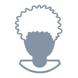 Avatar di una testa dell'uomo Immagini Stock