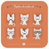 Avatar do gato do moderno ajustado no rosa Imagens de Stock Royalty Free