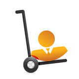 Avatar on a dolly. illustration design Royalty Free Stock Image