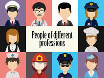 Avatar dos povos masculino e rostos humanos fêmeas sociais Foto de Stock Royalty Free