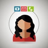 avatar email telephone camera Stock Photos