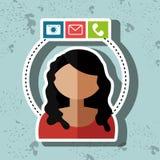 avatar email telephone camera Royalty Free Stock Photos