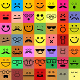 Avatar Emoticon Set Royalty Free Stock Photo