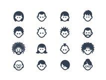 Avatar en gebruikerspictogrammen Royalty-vrije Stock Afbeeldingen