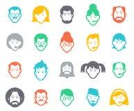 Avatar en mensenpictogrammen Stock Afbeelding