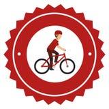 avatar extrême d'athlète de sport de bicyclette Illustration Libre de Droits