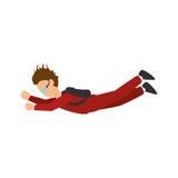 avatar extrême d'athlète de sport de parachute Illustration Stock