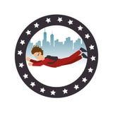 avatar extrême d'athlète de sport de parachute Illustration Libre de Droits
