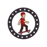 avatar extrême d'athlète de sport de patin Illustration de Vecteur