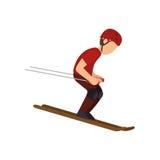 avatar extrême d'athlète de sport de ski Illustration Libre de Droits