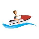avatar extrême d'athlète de sport de ski de jet Illustration Libre de Droits