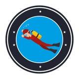 avatar extrême de plongée d'athlète de sport Illustration de Vecteur