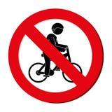 avatar extrême interdit d'athlète de sport de bicyclette de signe Illustration Stock