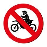 avatar extrême interdit d'athlète de sport de signe Illustration Stock