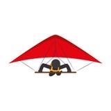 avatar extrême paraglinding d'athlète de sport Illustration de Vecteur