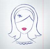 Avatar féminin Images libres de droits
