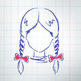 Avatar fêmea Foto de Stock