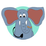 Avatar för elefantsymbolsvektor Arkivbild