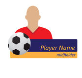 Avatar för fotbollspelare Arkivfoto