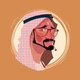 Avatar för sinnesrörelse för profilsymbol indisk manlig, mantecknad filmstående som känner sjuk feber att vända mot royaltyfri illustrationer