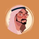 Avatar för sinnesrörelse för profilsymbol manlig, framsida för stående för Hipstermantecknad film lycklig le vektor illustrationer