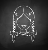 Avatar femminile Fotografia Stock
