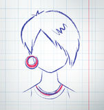 Avatar femminile Fotografia Stock Libera da Diritti