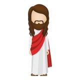 Avatar figure human of jesus christ. Illustration Stock Images