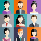 Avatar flat design icons. People Royalty Free Stock Photography