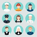 Avatar Flat Icons Set Royalty Free Stock Photos