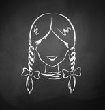 Avatar féminin Photo stock