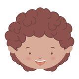 Avatar front face brunette boy. Illustration Stock Photography