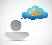 Avatar and and gold in cloud illustration design Royalty Free Stock Photos