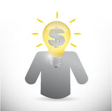 Avatar with great business ideas. illustration Royalty Free Stock Photo