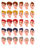 Avatar guys, vector isolated objects Royalty Free Stock Images
