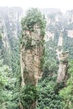 Avatar Hallelujah Mountain. Sandstone pillar located in Zhangjiajie National Forest Park in the Wulingyuan Area, in northwestern Hunan Province, China royalty free stock photos