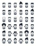 Avatar het pictogram van het portretbeeld Stock Foto