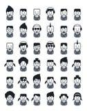 Avatar het pictogram van het portretbeeld Stock Foto's