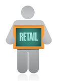 Avatar holding retail sign concept illustration Royalty Free Stock Photography