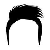 Avatar human head with moder haircut, vector graphic Stock Photos