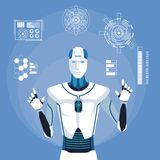 Avatar Humanoid do robô ilustração royalty free