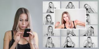 avatar i sociala nätverk val arkivfoton