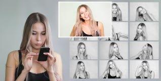 avatar i sociala nätverk val arkivfoto